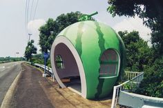 fruit shaped bus stops 5