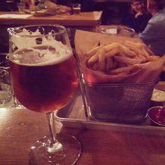 Fancy beer. And fries.   #Mikkeller #BeersWithFriends #ILikeBeer by edburg23