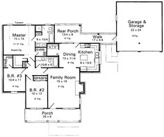 1406 Plan No.116041 House Plans by WestHomePlanners.com