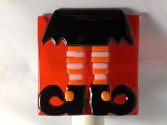 Witch, Legs, Halloween, Fused Glass, Night Light, Nightlight, Witch Shoes