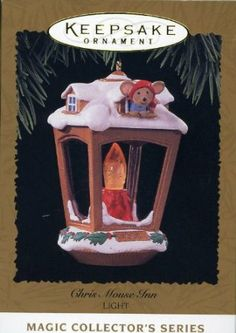 1999 Hallmark Ornament CHRIS MOUSE INN 12th in Chris Mouse Series - Decorative Hanging Ornaments