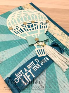 Click the image to visit my blog for lots more crafty inspiration from Lea Denton, The Crafty Spark Lift Me Up