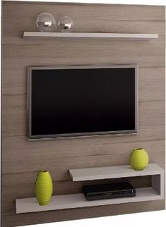 Bedroom Cupboard Designs, Wall Mounted Media Console, Tv Wall Design, House Interior, Tv Room Design, Cupboard Design, Wall Design, Wall Tv Unit Design, Living Room Tv Wall