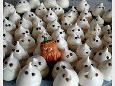 Fantasmitas de merengue francés para halloween