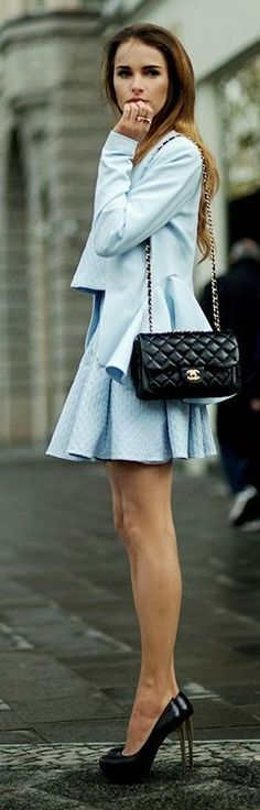 Yoshe - Pastel Blue, Structured Skater Skirt     - http://sulia.com/channel/fashion/f/0ff26f15-cddc-4716-9447-ded8822733db/?source=pin&action=share&btn=small&form_factor=desktop&sharer_id=125430493&is_sharer_author=true&pinner=125430493