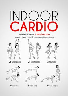 DareBee Workouts │ Indoor Cardio Workout - Full Body Cardio with focus on Butt & Legs #cardioweightlossrunning