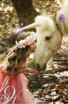 Little girls and horses. Totally recreating this picture with Ceci - Unicorn horn made by Rustic Horseshoe https://www.facebook.com/RusticHorseshoe