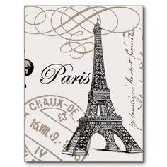 Postal de París del vintage…