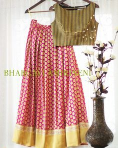 Banarasi Skirt with crop top