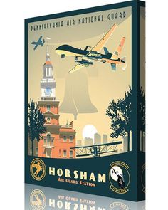 Share Squadron Posters for a 10% off coupon! Horsham Air Guard Station 103rd AS MQ-9 Reaper #http://www.pinterest.com/squadronposters/