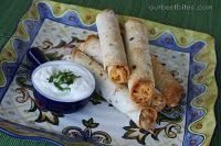 Creamy Chicken Taquitos. I made a double batch of these for dinner tonight and froze half. Two meals for the price of one sounds good to me!