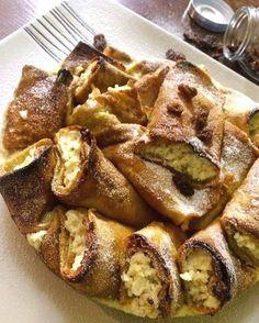 Bécsi sült totus palacsintatorta French Toast, Paleo, Breakfast, Food, Kochen, Morning Coffee, Meal, Essen, Hoods