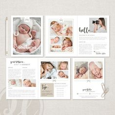 Impress your clients and present a unified brand with a professionally designed Newborn Photography Magazine. This template will allow you to create an online publication or provide your clients with a printed magazine. ALL COLORS & TEXT ARE EDITABLE - DOWNLOAD, EDIT & PRINT TODAY!