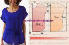 Шитье в помощь вязальщице: Выкройка летней блузы