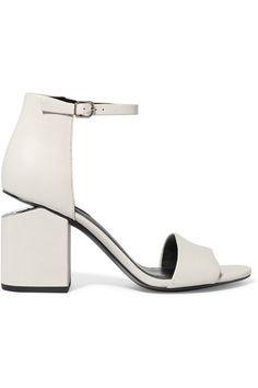 Heel measures approximately 80mm  3 inches Off-white leather  Buckle-fastening ankle strap. Strappy ShoesAnkle ... 5c23f848115