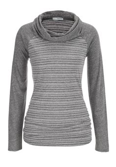cowl neck long sleeve tee with stripes - maurices.com