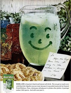 "1960.  ""Kool Aid Kool Aid taste great.  Wish I had some, can't wait.""  This was the commercial song I learned when I was a kid."
