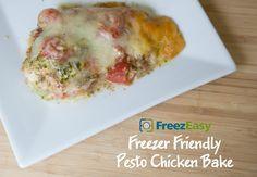 Pesto Chicken Bake - Just 4-Ingredients!!!