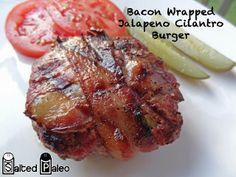 Salted Paleo: Bacon Wrapped Jalapeno Cilantro Burgers