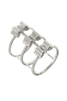 Corset Argent Ring by Angelique de Paris on @HauteLook I LOVE LOVE LOVE THIS RING!!!!!!!!!