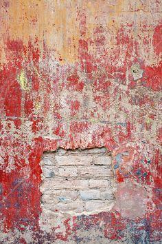 Reddish Old Cement Wall - Tapetit / tapetti - Photowall