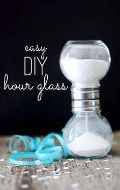 DIY jar hourglass