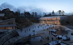 Harbour / Vest Agder museum competition winner by Helen & Hard