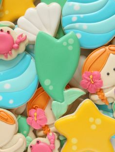 How to Make Mermaid Tail Cookies in Four Easy Steps- this woman is my hero.