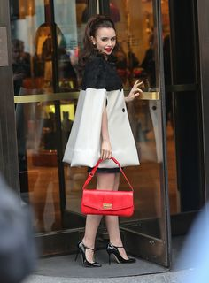 Lilly Collins retro style... Might have already pinned, but this is just perfect!