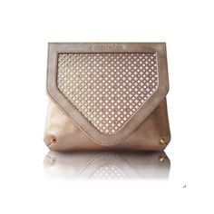 Crystal Clutch - Gold Leather by Poupee Couture