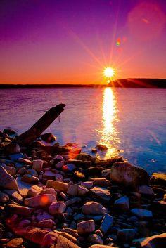 sea glass hunting beach..