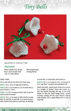 crochet bells--- http://craftpals.com/crochet-christmas-ornaments-4/cpi/crochet-christmas-tiny-bells.png