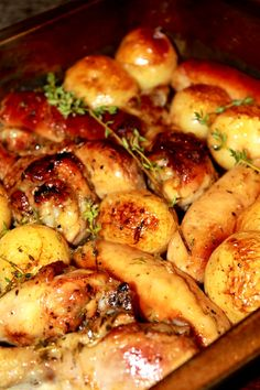 Chicken, Sausage & Potato Tray Bake With Marmalade & Thyme