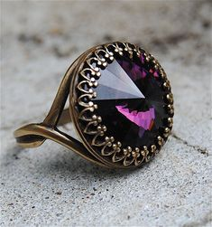 Swarovski Amethyst Ring - the birthstone ring I have been looking for.