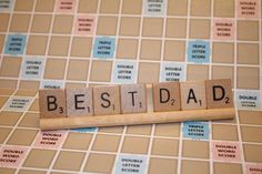 Father's Day Gifts! #FathersDay #GiftsforDad #Dadgift #Dad #father #papa #ilovedad  Dad Gift Mom Gift Scrabble Decoration Best by HidingPlaceBoutique
