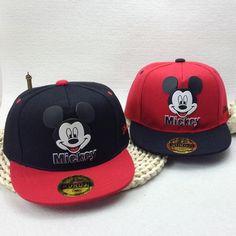f047230e3c6ff Children Kids Mickey Ear Hats Snapback Baseball Caps With Ears Funny Boys  Hats