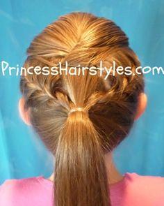 Princess Hairstyles: Gymnastics Hairstyle inspired by Nastia Liukin Girls Hairdos, Little Girl Hairstyles, Braided Hairstyles, Wedding Hairstyles, Cool Hairstyles, Updo Hairstyle, Bridesmaid Hairstyles, Will Turner, French Braid Ponytail
