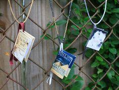 Custom Handmade Book Necklace