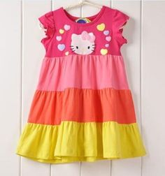NWT Girls Summer Clothes Hello Kitty Dress Outfits Shorts Shirts Size ,3T,4T !Free Ship *