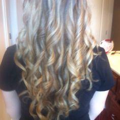 Curled hair(: