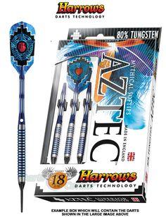 Darts - Soft Tip - 20g - Harrows - Tungsten - Aztec ST - ST Aztec - Ringed - 20gR