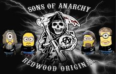 minions sons of anarchy Minion Characters, Fictional Characters, Sons Of Anarchy, Horror Movies, Minions, Darth Vader, The Originals, Cute, Movie Posters