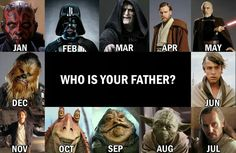 Mine is Darth Maul! Star Wars Trivia, Simbolos Star Wars, Star Wars Jokes, Star Wars Facts, Star Wars Fan Art, Star Wars Pictures, Star Wars Images, Who Is Your Father, My Father
