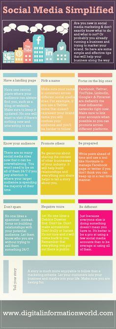 Social Media Marketing Simplified [#infographic]   http://www.digitalinformationworld.com/2013/07/social-media-simplified-infographic.html  #SocialMedia #Marketing #SMM