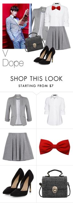 """V - Dope / BTS"" by udkpopper ❤ liked on Polyvore featuring Miss Selfridge and Steffen Schraut"
