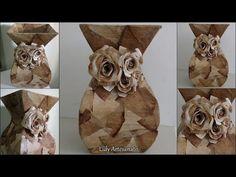 vaso de papelão com efeito de pedra - YouTube