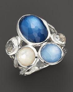 Ippolita Sterling Silver Wonderland 5-Stone Ring in Lido | Bloomingdale's