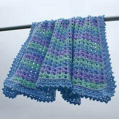 Striped Crochet Baby Afghan