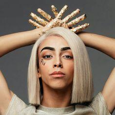 Bilal Hassani Bilal Hassani, Beautiful Unicorn, Face Reference, Zero Two, Platinum Blonde, Music Stuff, Album Covers, Youtubers, Celebrities