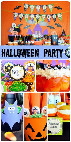 A family friendly Halloween Party for all ages with fun party decorations!  See more party planning ideas at CatchMyParty.com!
